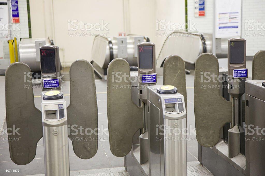 London Underground Ticket Barriers stock photo