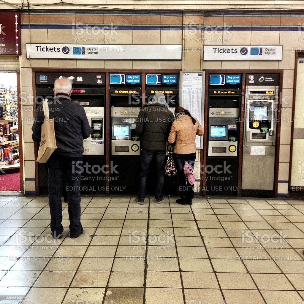 London Underground ticket sales royalty-free stock photo