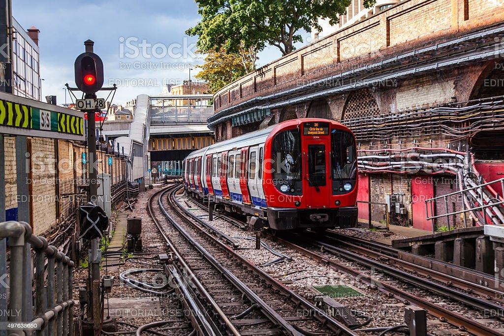London Underground Train stock photo