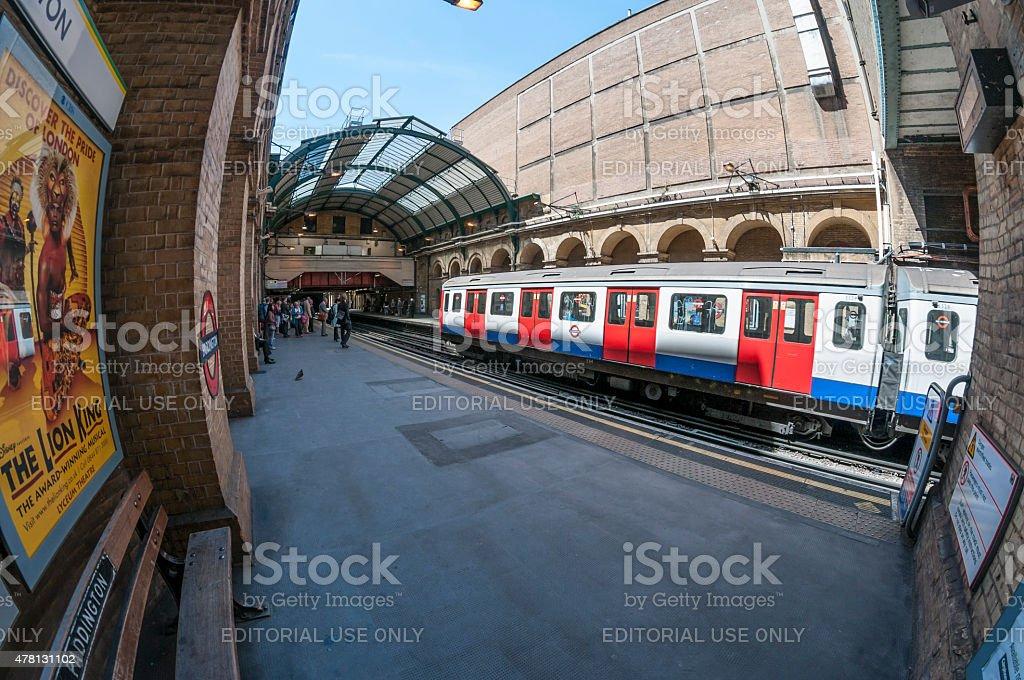 London Underground Train Platform stock photo