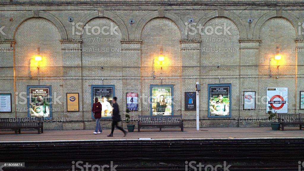 London underground West Brompton station stock photo
