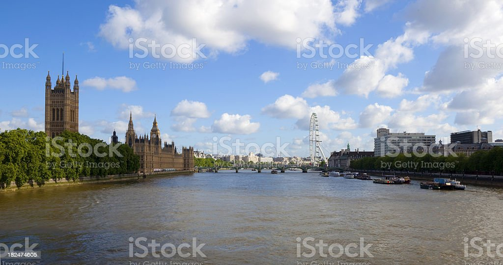 London View Down The Thames royalty-free stock photo