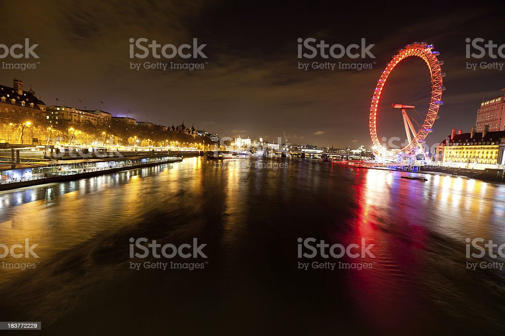 London view from Westminster bridge royalty-free stock photo
