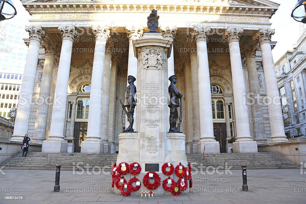 london War Memorial stock photo