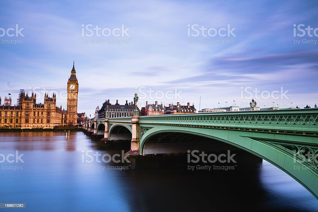 London Westminster Bridge royalty-free stock photo
