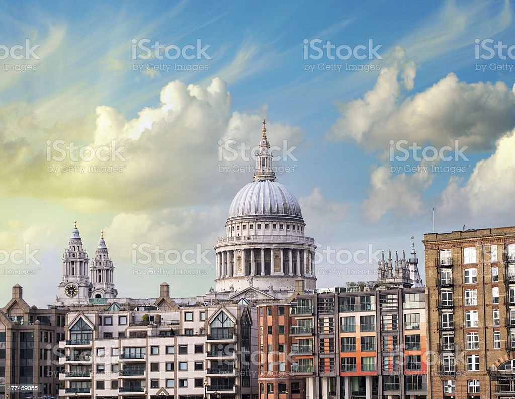 London. White cupola of St. Paul Cathedral royalty-free stock photo