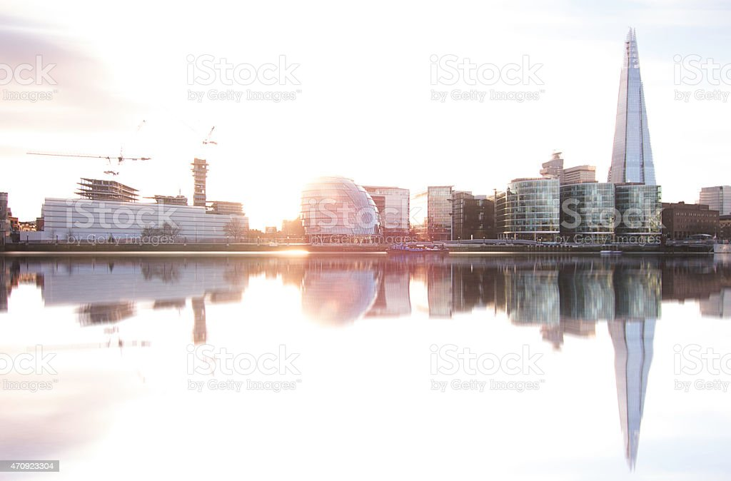 London wiev with The Shard and City Hall stock photo