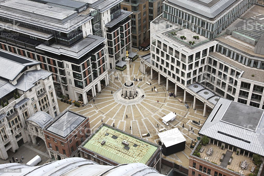 London with Paternoster Square royalty-free stock photo