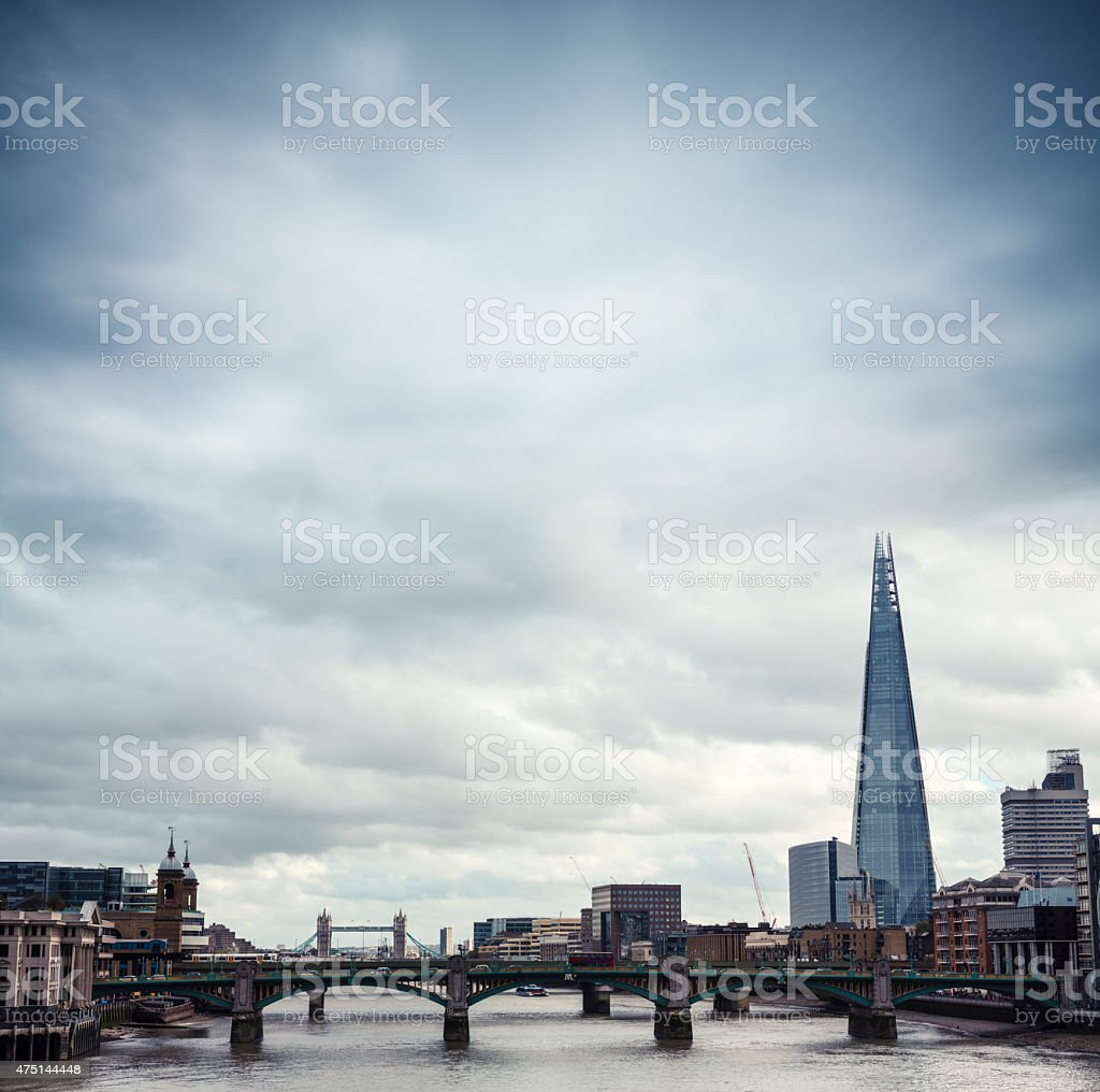 London With Shard And Tower Bridge stock photo