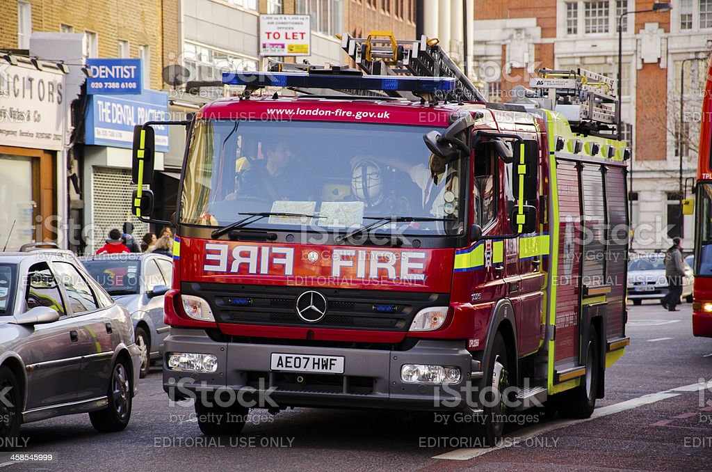 Londoner fire truck. royalty-free stock photo