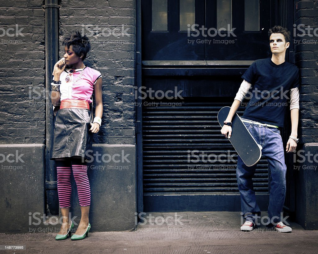 Londoners hanging out stock photo