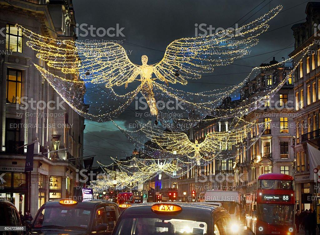 London's Christmas Lights stock photo