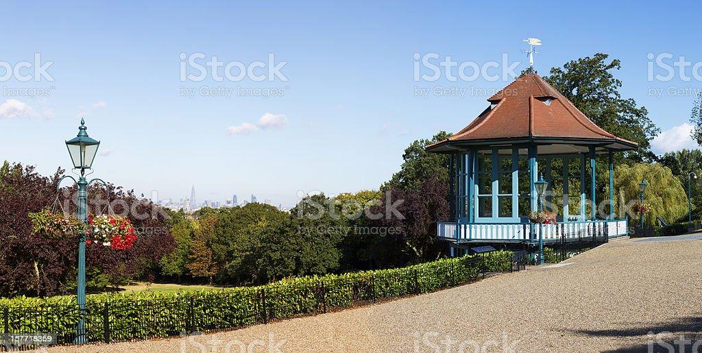 London's distant skyline stock photo