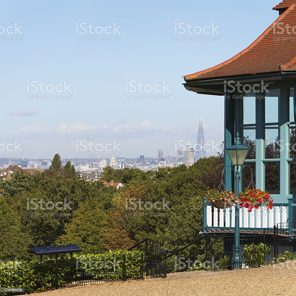 London's distant skyline royalty-free stock photo