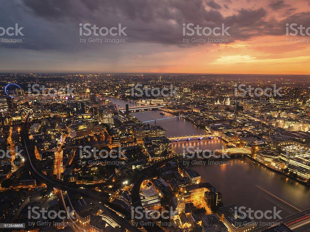 London's lights stock photo