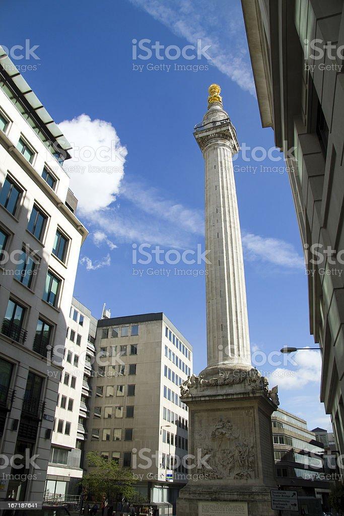 London's Monument stock photo