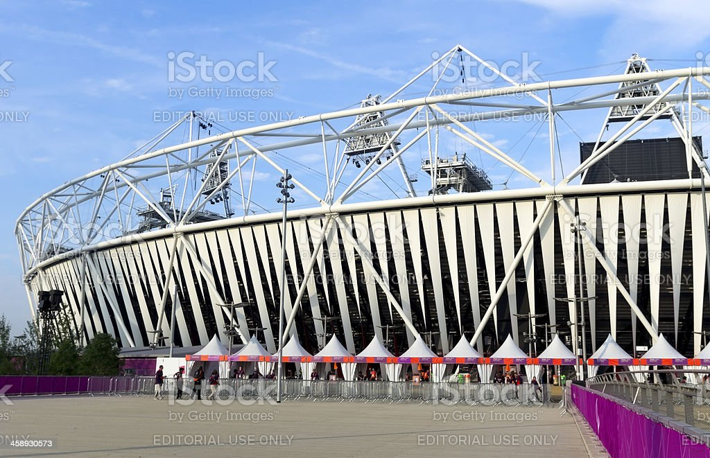 London's Olympic Stadium, early morning stock photo