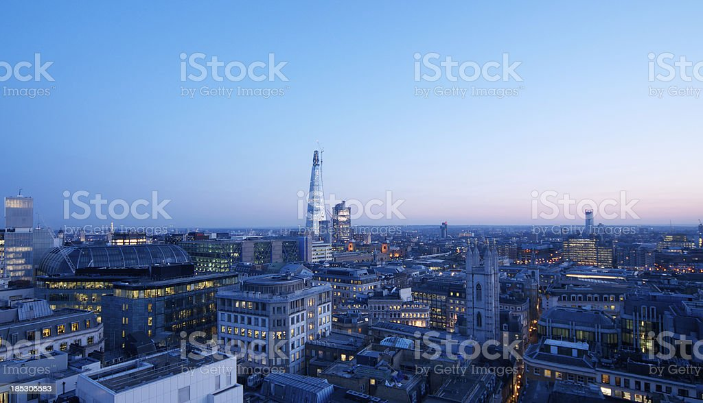 London's Shard and Cityscape royalty-free stock photo