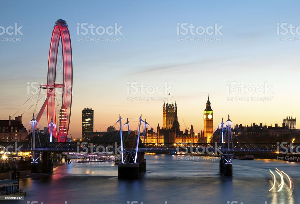 London's view stock photo