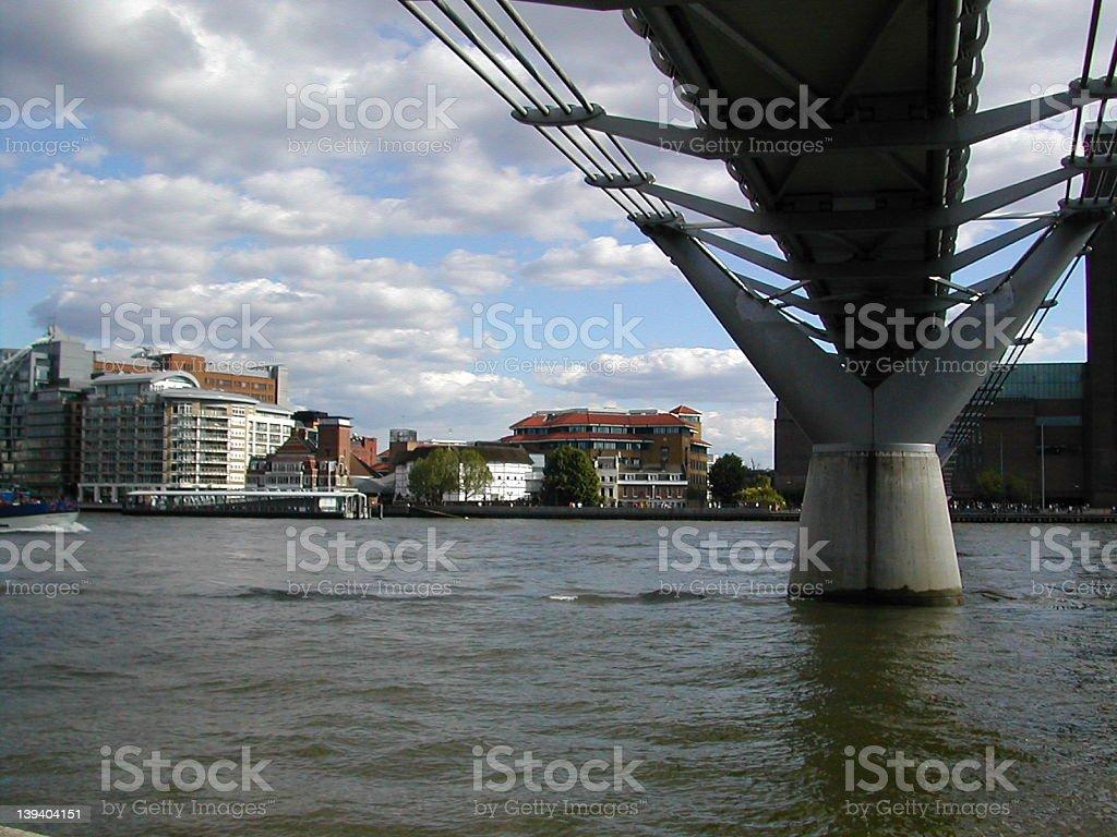 London's Wobbly Millenium Bridge royalty-free stock photo