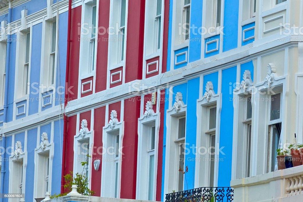 Londres - Notting Hill, façades, extérieures stock photo