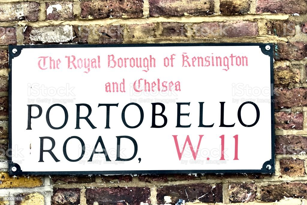Londres - Notting Hill, Signalisation, Portobello road stock photo