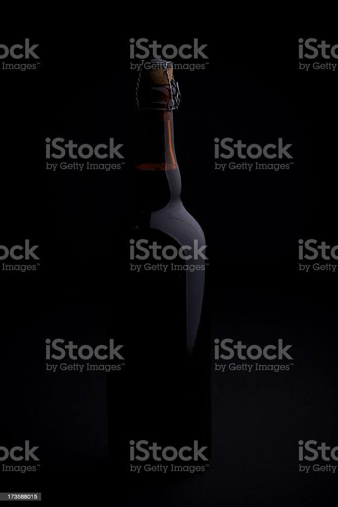 Lone Beer Bottle stock photo