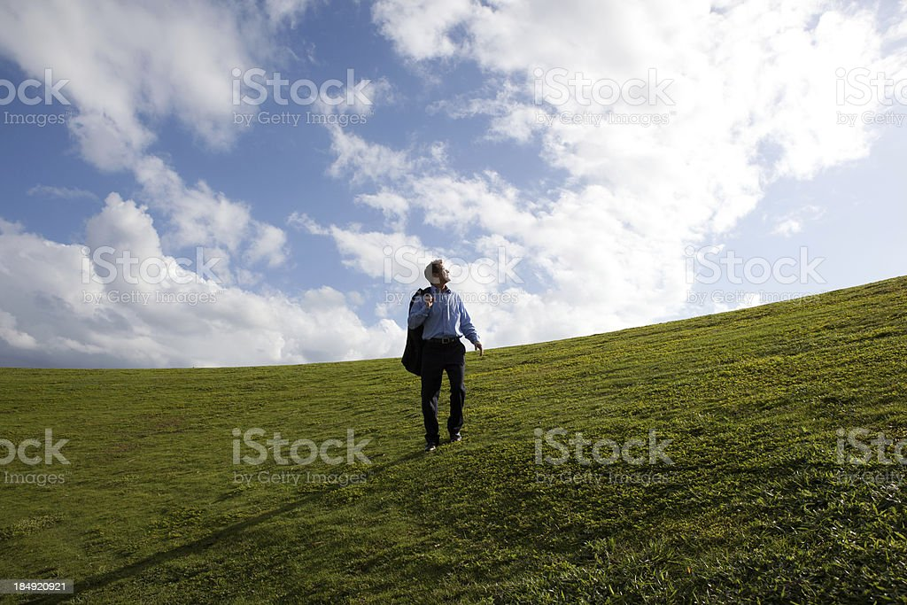 Lone business man royalty-free stock photo