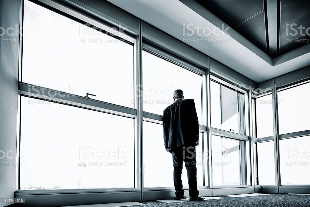 Lone businessman stock photo