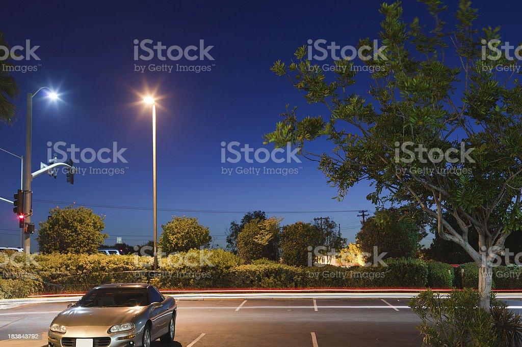 Lone Car at Night royalty-free stock photo