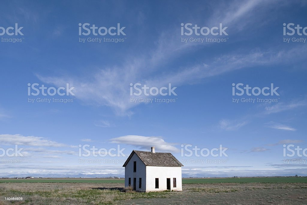 Lone Deserted House stock photo