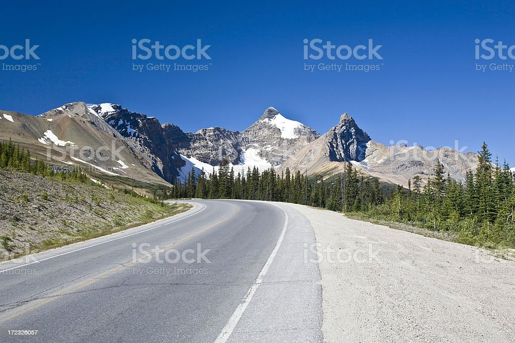Lone Highway royalty-free stock photo