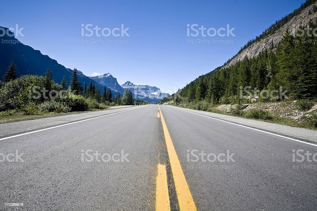 Lone Highway (two) royalty-free stock photo