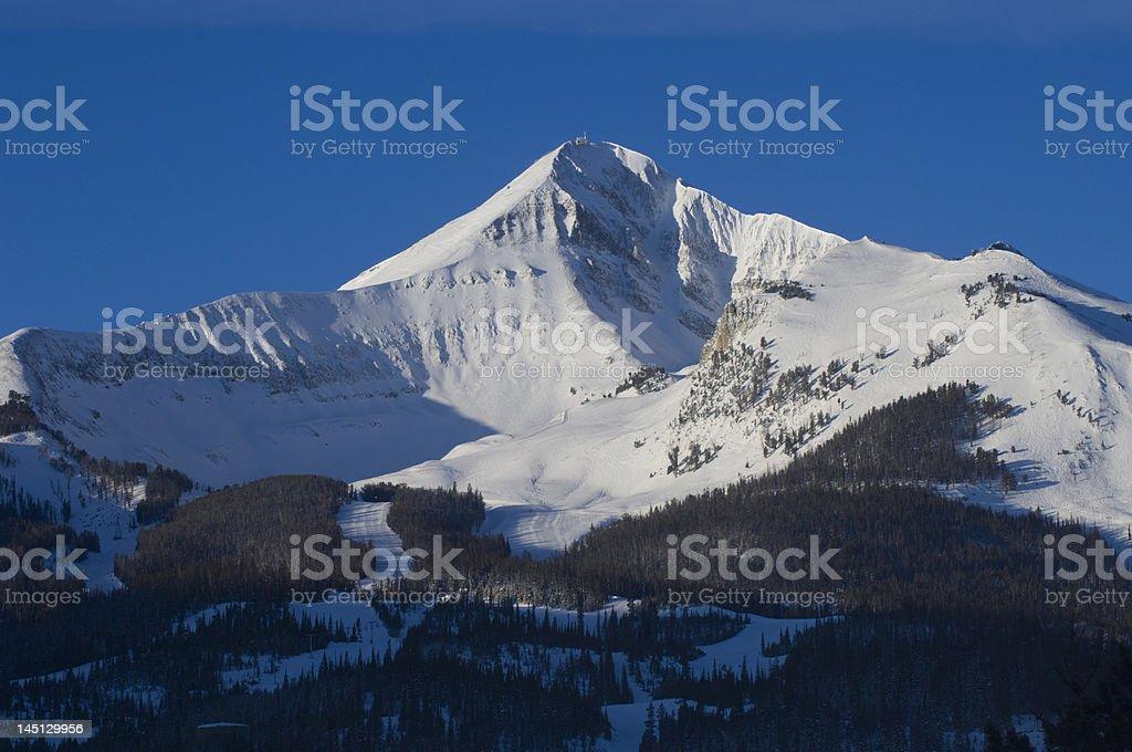 Lone mountain montana stock photo