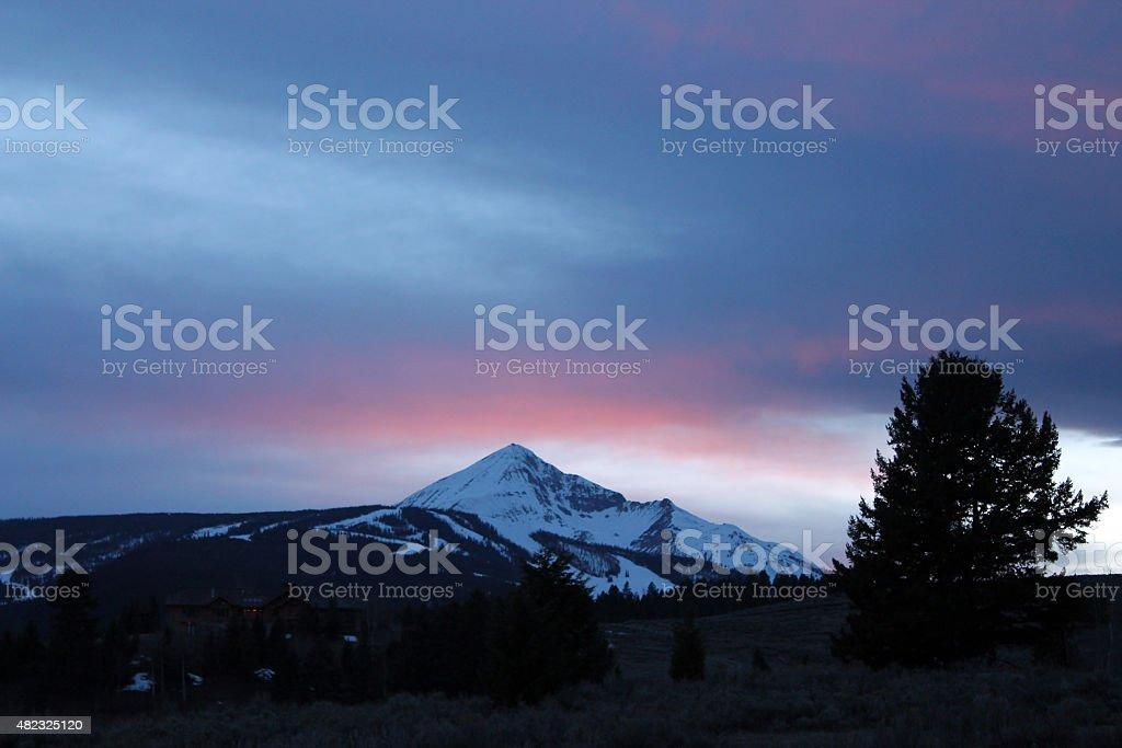 Lone Mountain stock photo