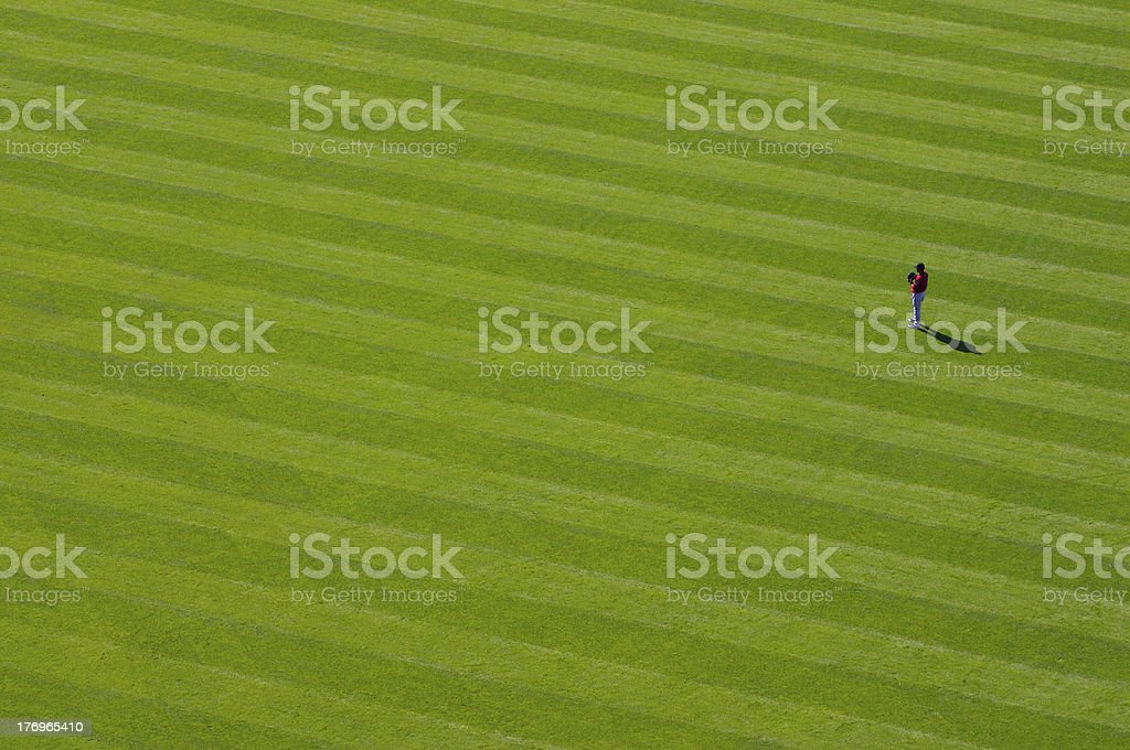 Lone outfielder stock photo