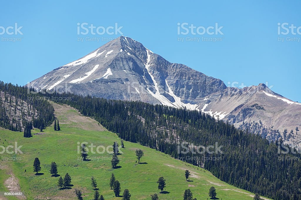 Lone Peak Big Sky Montana USA stock photo