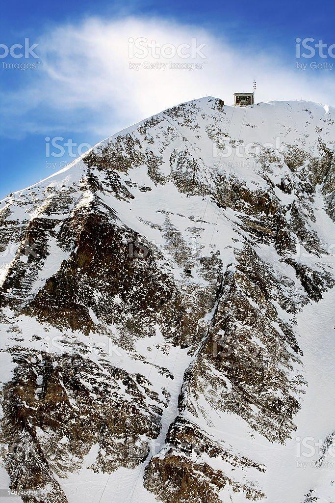 Lone Peak of Big Sky Resort stock photo