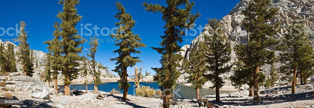 Lone Pine Lake, Mt. Whitney trail, California stock photo