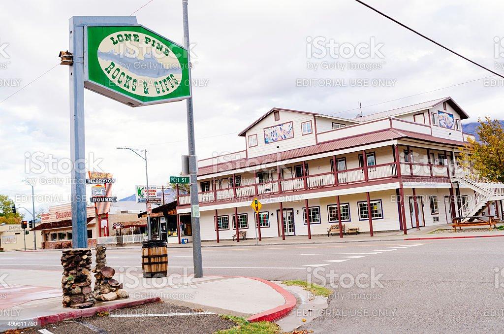 Lone Pine, Owens Valley, California stock photo