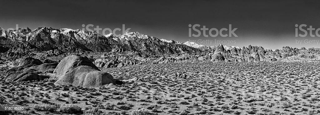 Lone Pine Panorama Alabama Hills stock photo
