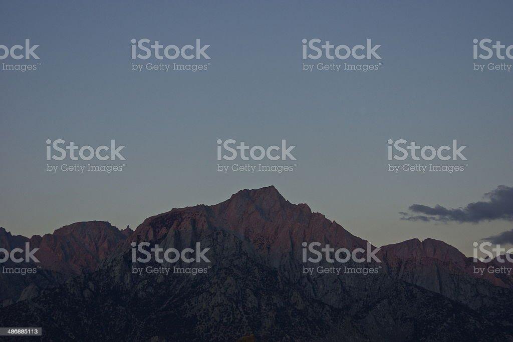 Lone Pine Peak Dawn royalty-free stock photo
