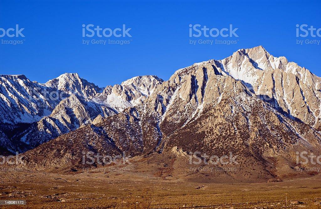 lone pine peak royalty-free stock photo