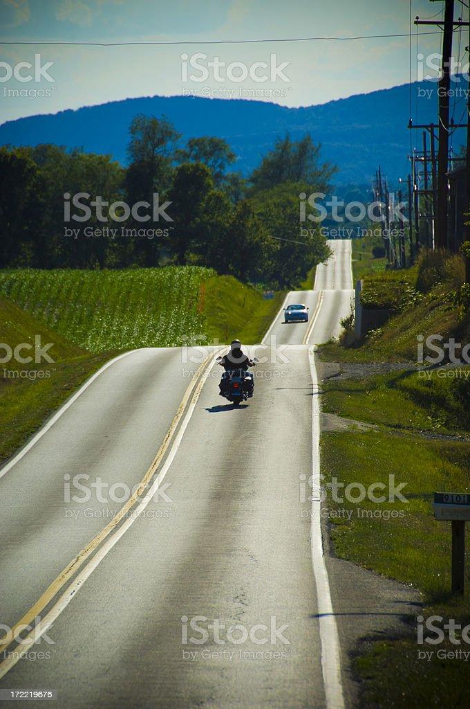Lone Rider royalty-free stock photo