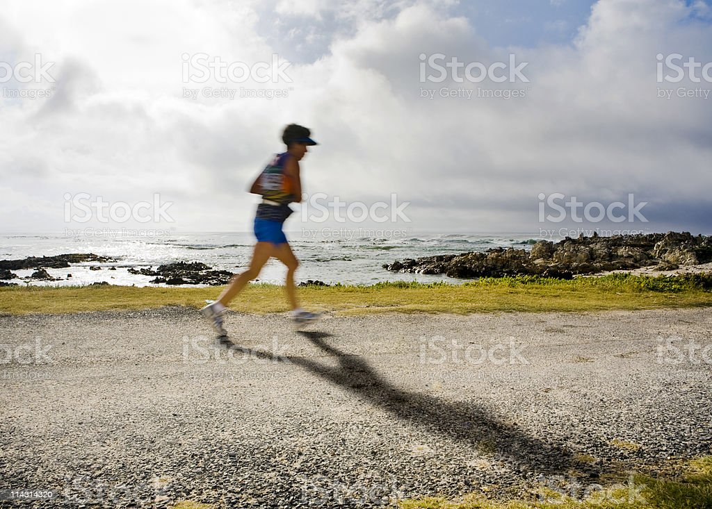 Lone runner royalty-free stock photo