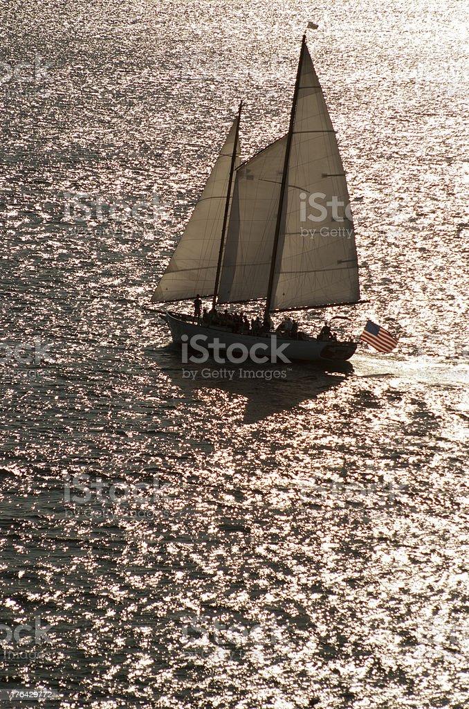 Lone Sailboat 4 royalty-free stock photo