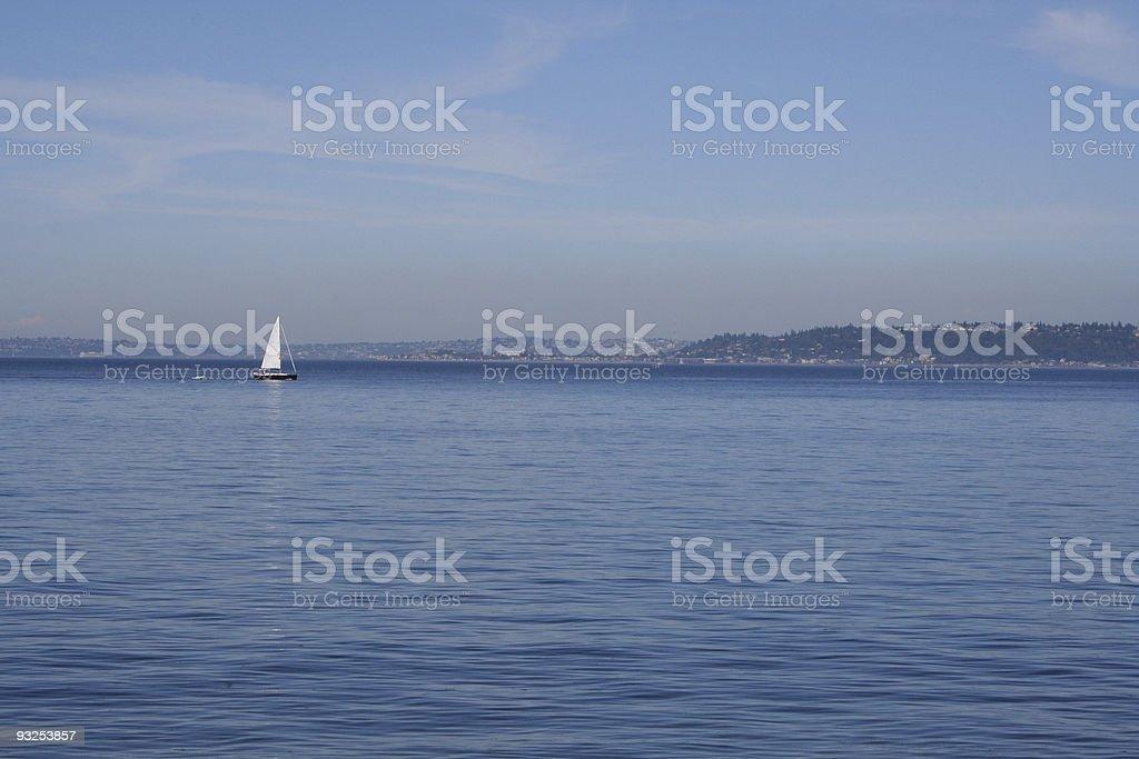 Lone Sailboat royalty-free stock photo