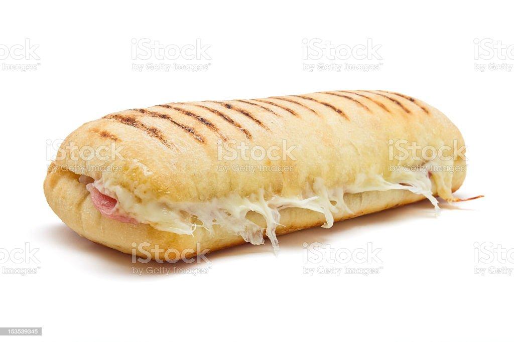 Lone sandwich on white background stock photo