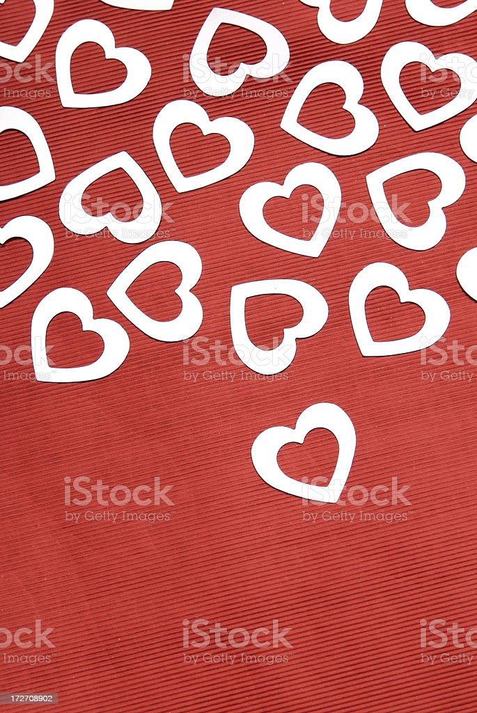 Lone Silver Heart royalty-free stock photo