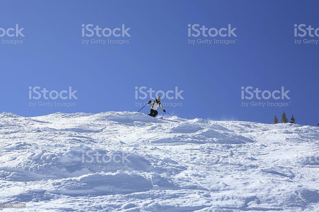 lone skier stock photo